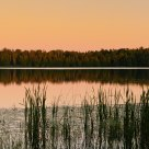 Evening light on Little Moose Lake